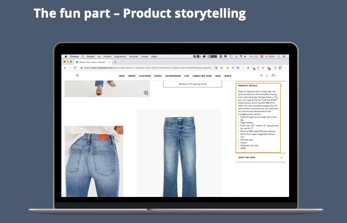 Product storytelling