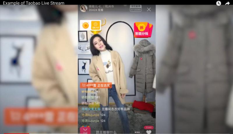 live streaming taobao